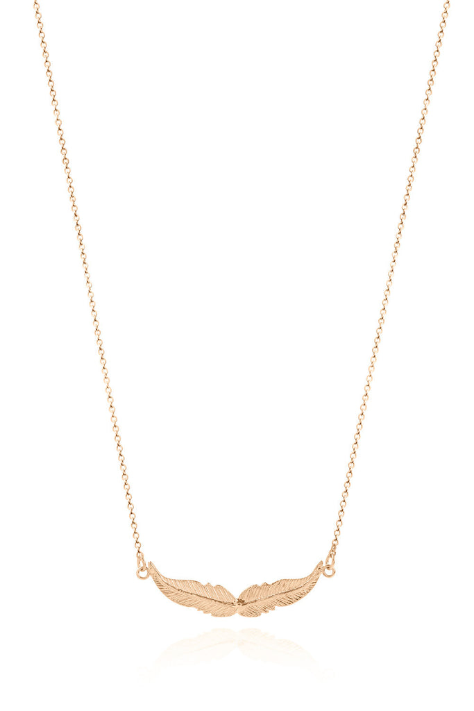 14K Rose Gold Wings Necklace