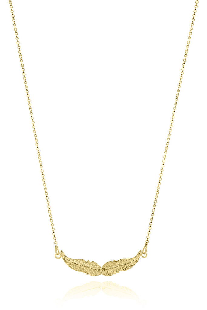 Necklace 14K Gold Wings - Sophie Simone Designs