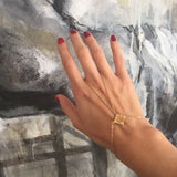 Gold Dipped Maya Symbol Hand Jewelry - Sophie Simone Designs