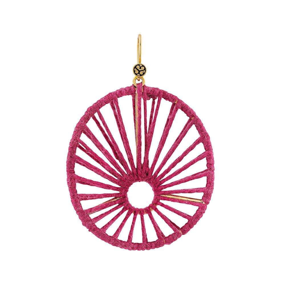 Boca Chica Earring Pink Silk - Sophie Simone Designs