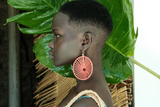 Margarita Earring Orange Silk