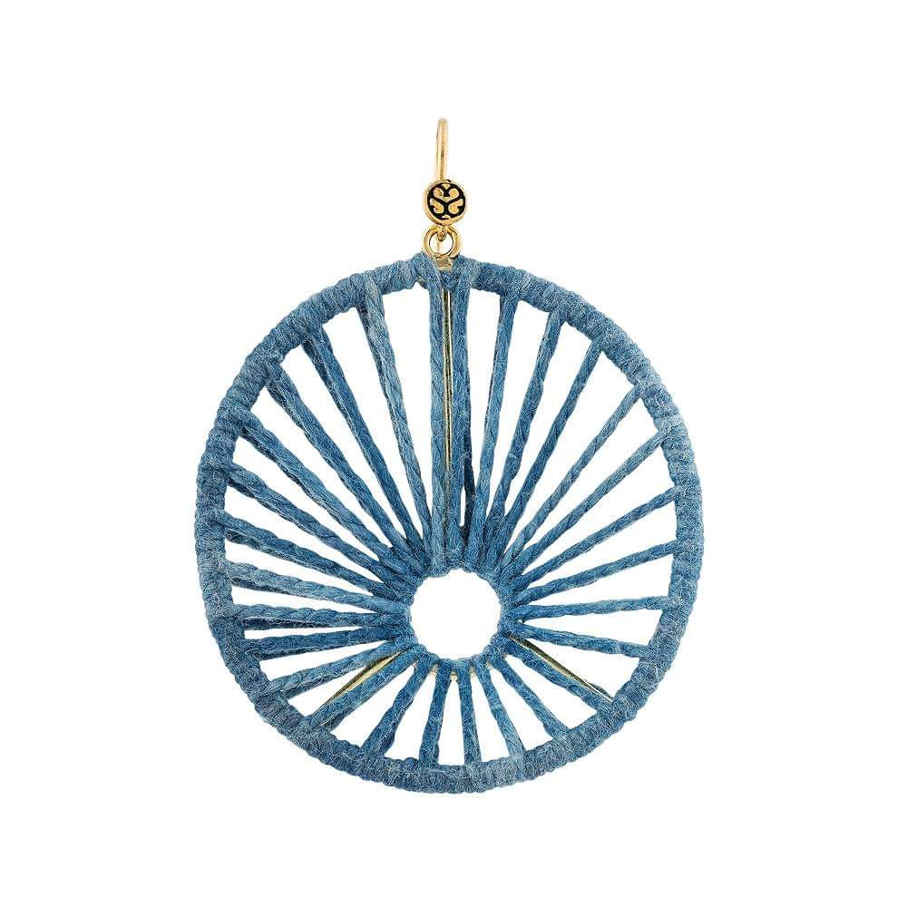 Boca Chica Earring Blue Silk - Sophie Simone Designs