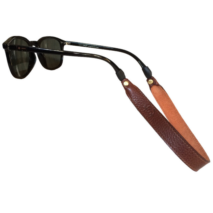 Leather Sunglass Strap - Chestnut
