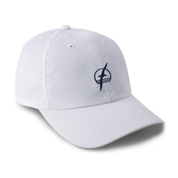 Albatross Performance Hat - White with Navy