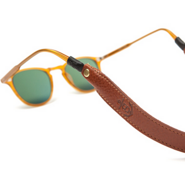 Leather Sunglass Strap - Cognac