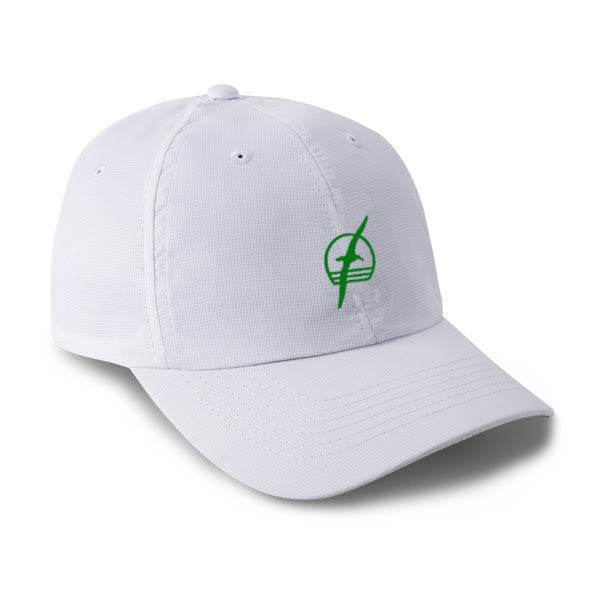 Albatross Performance Hat  - White with Green