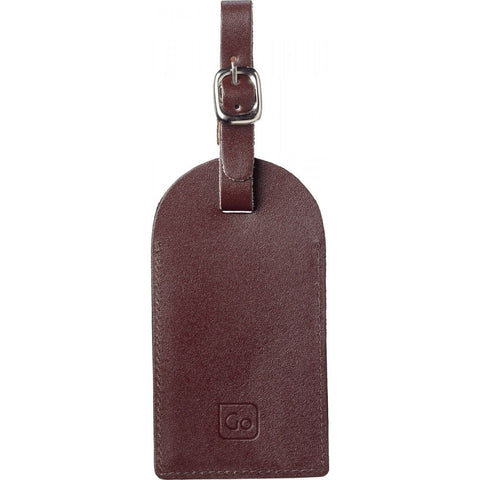 Leather Luggage Tags - Chocolate