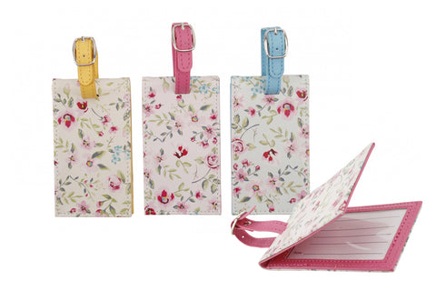 Floral Luggage Tag Pink