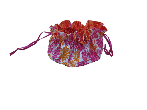 Jewellery Pouch - Orange/Pink