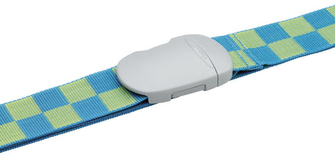 Luggage Strap Blue/Green Check
