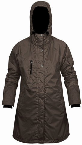 Kiwistuff Womens Tara Raincoat - Walnut SizeM