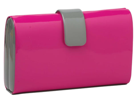 Book Style Evening Bag - Pink
