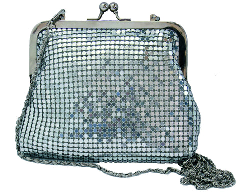 Sequin Evening Purse - Silver