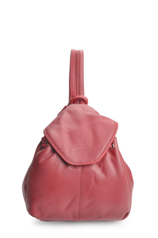 Firenze Leather Backpack - Red