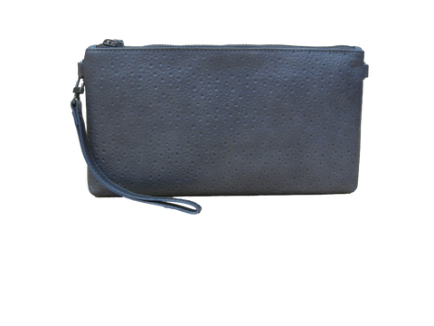 Hermes Leather Clutch - Grey