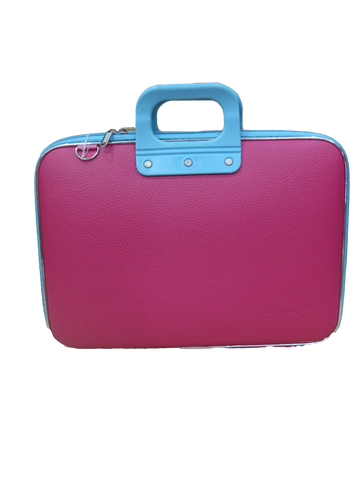 Bombata.it Laptop Protective Case - Pink/Blue Contrast