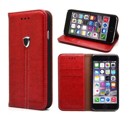 Patterned Walletcase - iPhone 6/6S Red