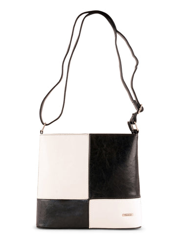 Black & White Colour Block Shoulder Bag