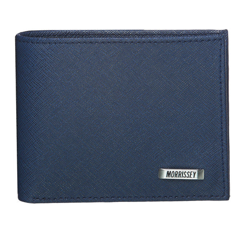 RFID Protected Morrissey Leather Wallet - Navy