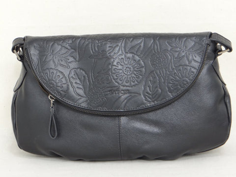 Satch Moonbag Leather Handbag - Black