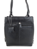 York Leather Small Tote Black