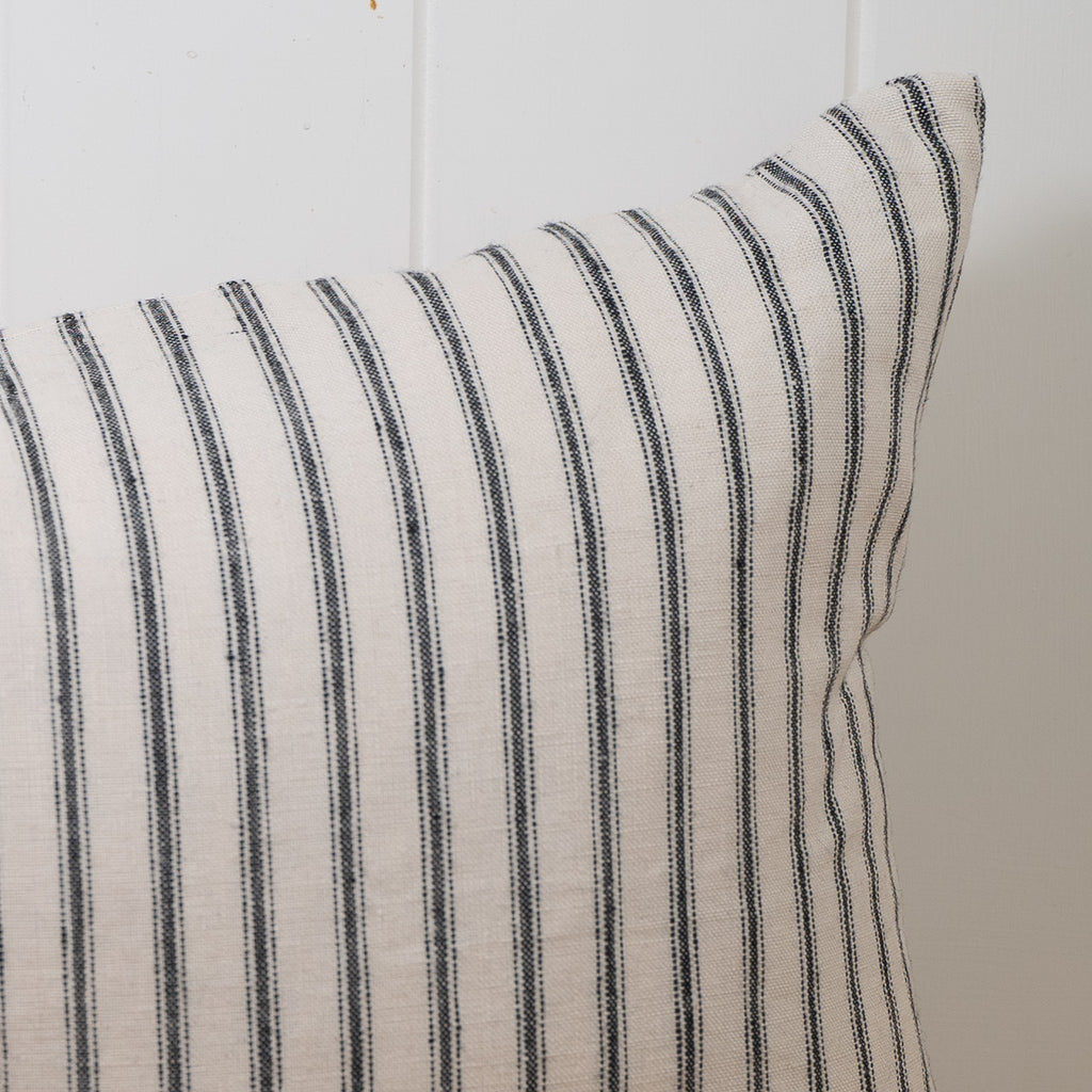 Lighthouse Ticking Linen Cushion Cover | 35 x 55cm by Salt Living