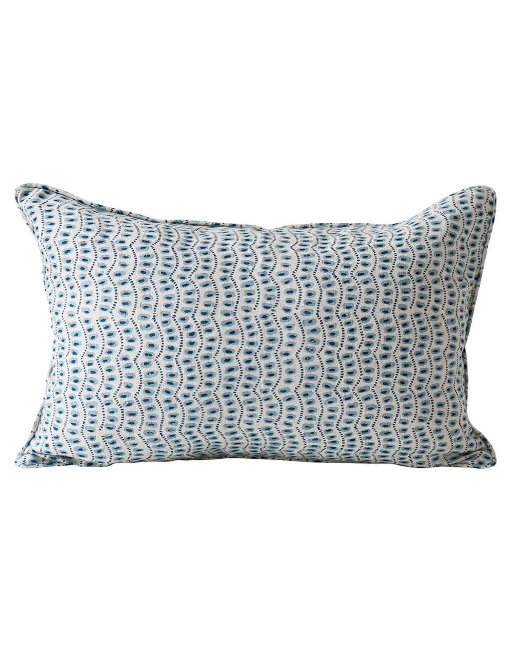 Amulet Linen Cushion in Azure 35x55cm by Walter G