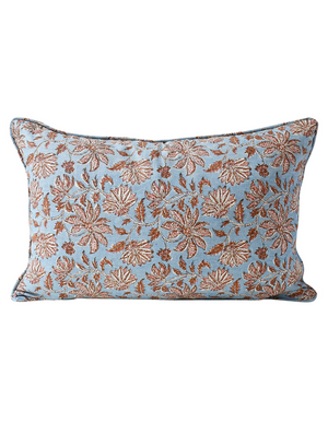 Uluwatu Winter Bloom Linen Cushion 35x55cm by Walter G