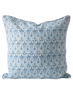 Praiano Linen Cushion in Riviera 55cm by Walter G