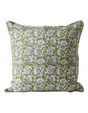 Marbella Linen Cushion in Moss 50cm by Walter G