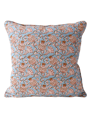 Iznik Linen Cushion in Winter Bloom | Walter G