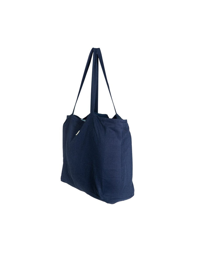 Oversized Linen Tote Bag in Sailor Navy by Salt Living