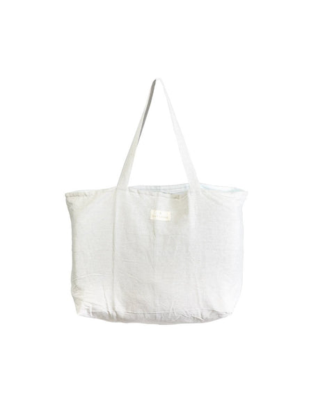 Oversized Linen Tote Bag in Island Natural