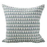 Pyramids Linen Cushion in Celadon 50cm | Walter G at Salt Living