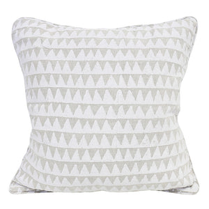Pyramids Linen Cushion in Chalk 50cm by Walter G at Salt Living