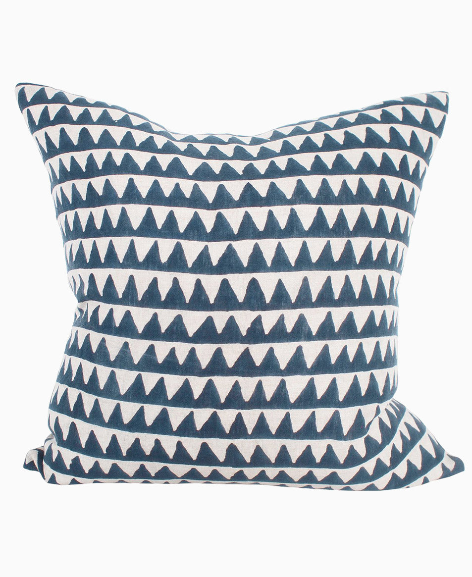 Pyramids Indian Teal Linen Cushion 50x50cm | Walter G Textiles