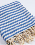 Seafarer Turkish Towel in Marine from Salt Living