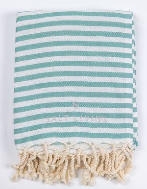 Seafarer Turkish Towel in Sea Green from Salt Living