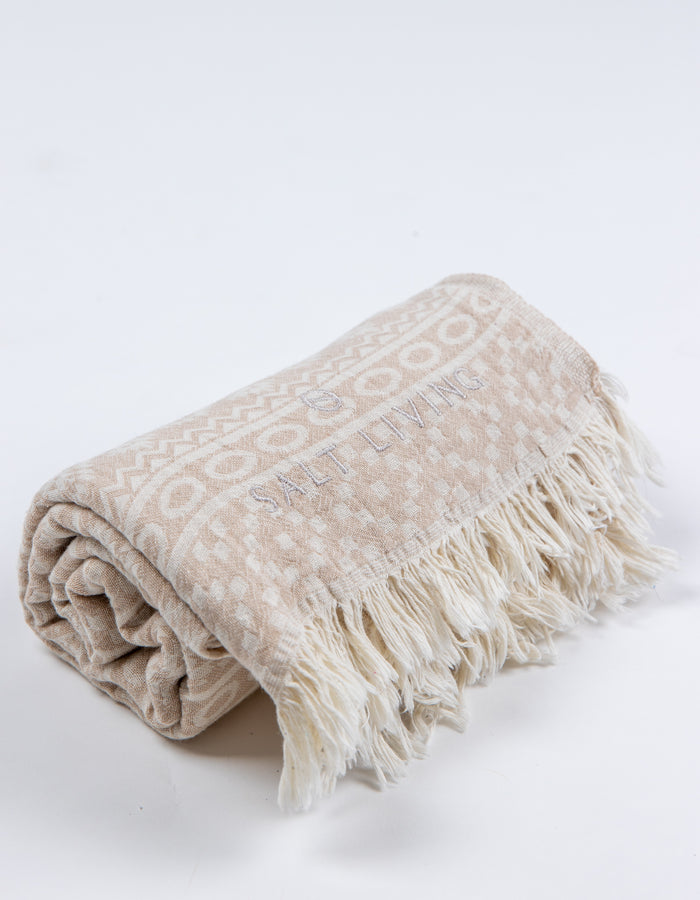 Soleil Turkish Towel in Dune from Salt Living