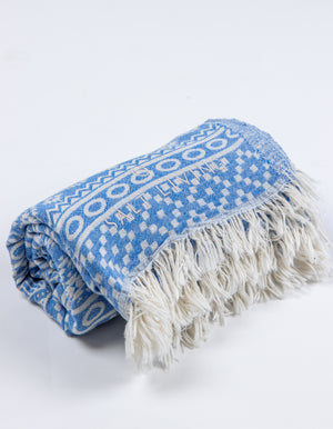 Soleil Turkish Towel in Sea from Salt Living