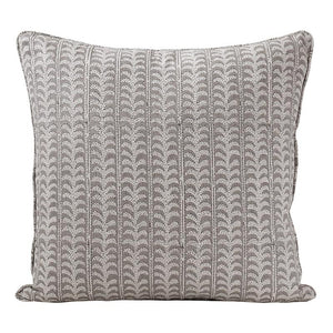 Luxor Linen Cushion in Mud 50cm | Walter G at Salt Living