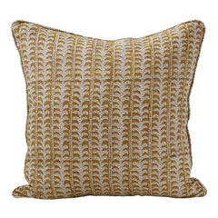 Luxor Linen Cushion in Saffron