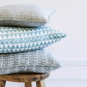 Pyramids Linen Cushion in Celadon 50cm