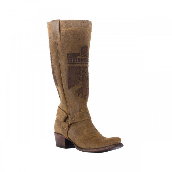 She Who is Brave Cowboy Boot in Honey Suede by Junk Gypsy Co.