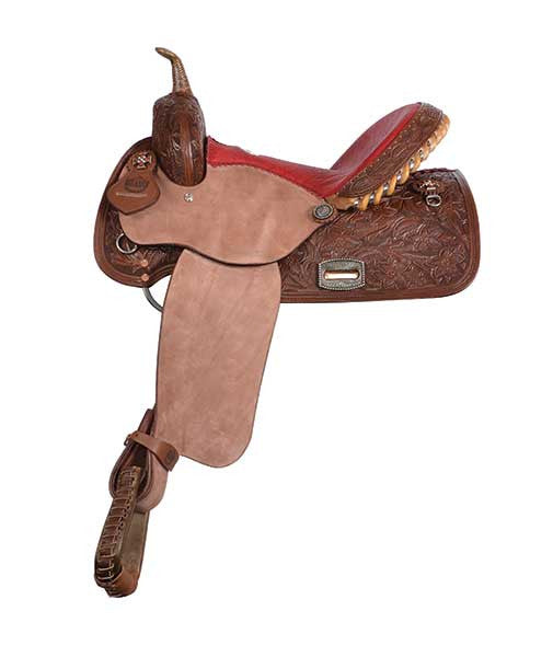 Rough-Out Vintage Barrel Racing Saddle by Alamo Saddlery