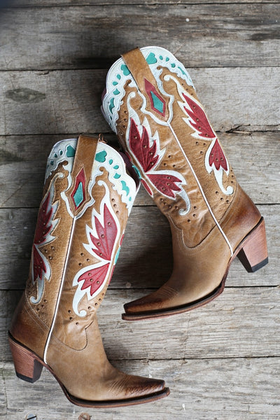 Day Dreamer Cowboy Boot in Tan by Junk Gypsy Co.