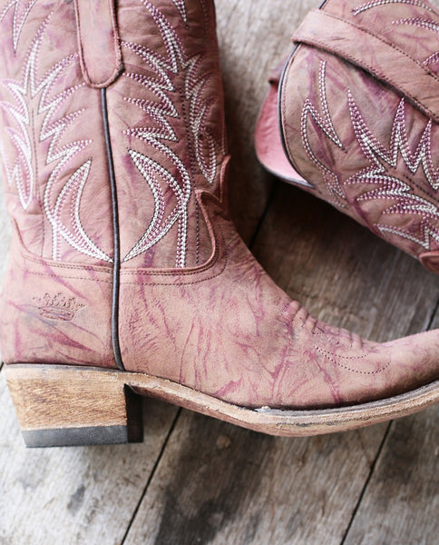 Dirt Road Dreamer Cowboy Boot in Bordeaux by Lane Boots for Junk Gypsy Co.