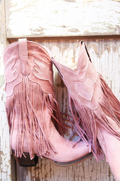 Dreamer Cowboy Boot in Rose Pink by Junk Gypsy Co.