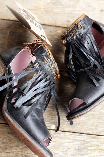 Archer Cowboy Bootie in Black and Brass by Junk Gypsy Co.