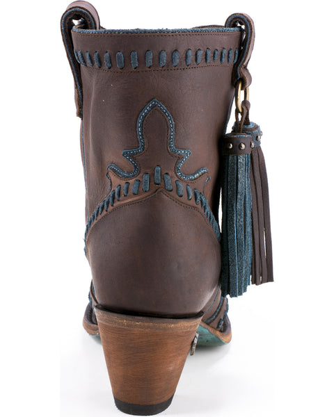 Hoedown Cowboy Boot in Brown & Denim by Lane Boots